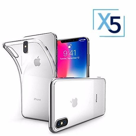 Lot x5 Coque de Protection Transparente iPhone X