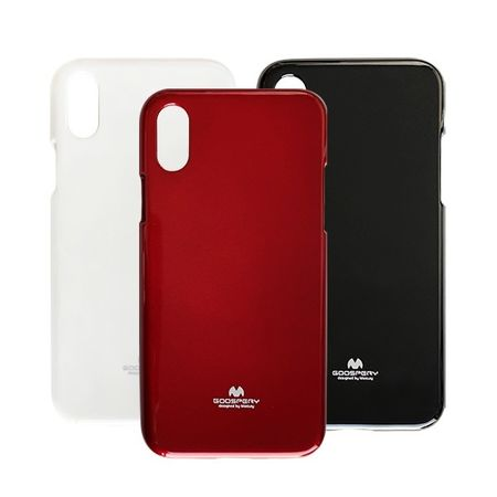 Coque TPU iPhone X / XS Jelly Mercury BLANC