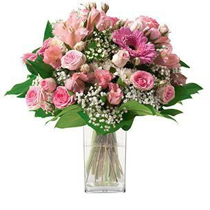 Bouquet Rond Camaieu Rose