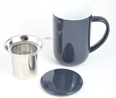 Tea cup Mug grey 18 oz