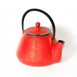 Red cast iron teapot - 1 L