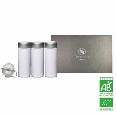 Gift box to make by yourself (3 organic tea tins + 1 tea mesh ball)