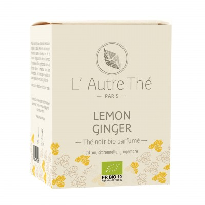 "Organic ""Lemon Ginger"" black tea"