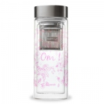 Pink glass isotherm travel mug
