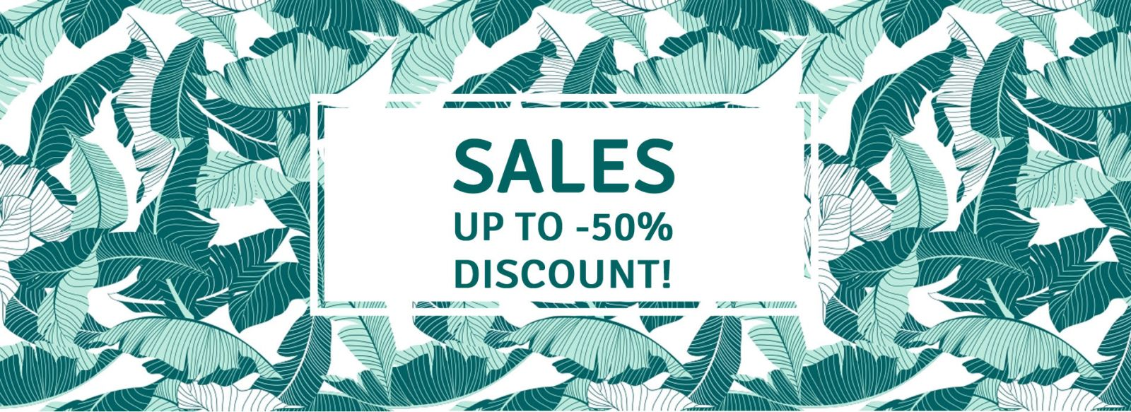 Sales : up to 50 % discount