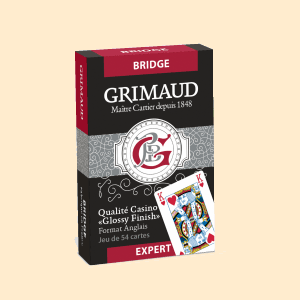 Cartes Grimaud Expert Bridge (Rouge)