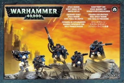 W40K : Space Marine Scout Squad with Sniper Rifles