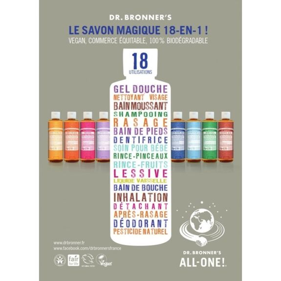 Dr. Bronner's Savon Liquide Agrumes-Orange 240 ml