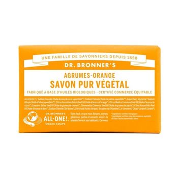 Dr. Bronner's Pain de Savon Agrumes-Orange 140 g