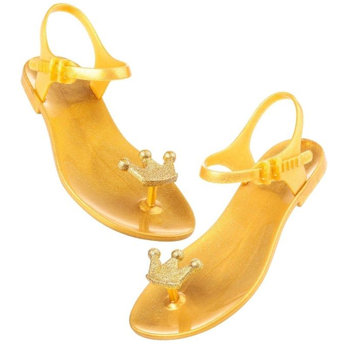 Sandales plates QUEEN GOLD
