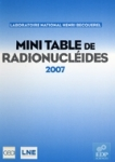 Mini-table de radionucléides (2007)