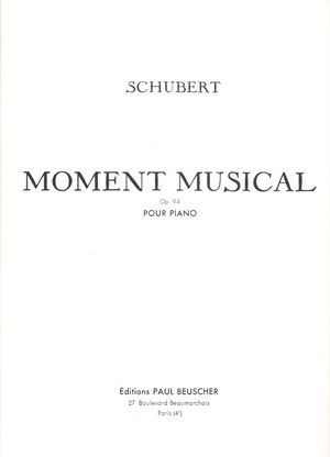 Franz SCHUBERT Moment musical op.94
