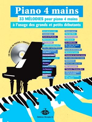 33 Mélodies pour piano 4 mains + CD