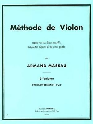 Armand MASSAU Méthode de violon vol.3