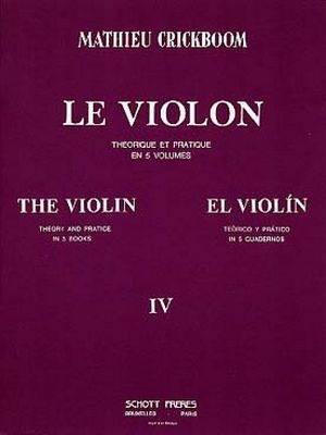 Mathieu CRICKBOOM Le violon vol.4