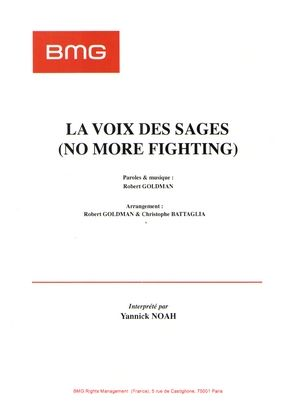 Voix des sages (la) (No More Fighting)