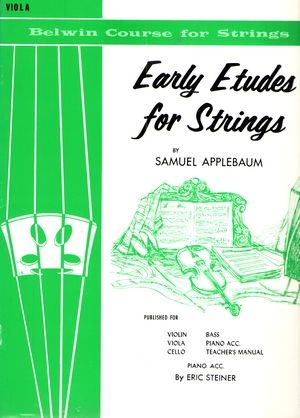 Samuel APPLEBAUM Early Etudes For Strings