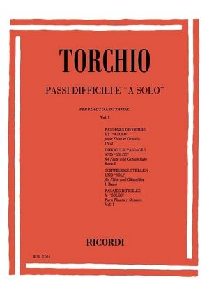 "TORCHIO Passages difficiles et ""A solo"" vol.1"