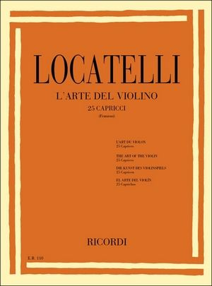 LOCATELLI L'art du violon (25 caprices)