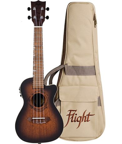 FLIGHT: Ukulele Electro acoustique Concert-Ambre