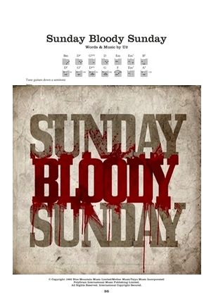 Sunday bloody sunday TAB