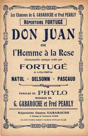 Don Juan ou L'homme à la rose