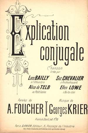 Explication conjugale
