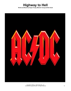 Highway To Hell TAB