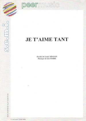 Je t'aime tant