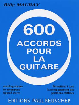 Billy MAURAY 600 accords pour la guitare