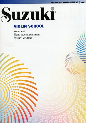 SUZUKI Violin School vol.4 Piano accompagnement (Revised Edition)