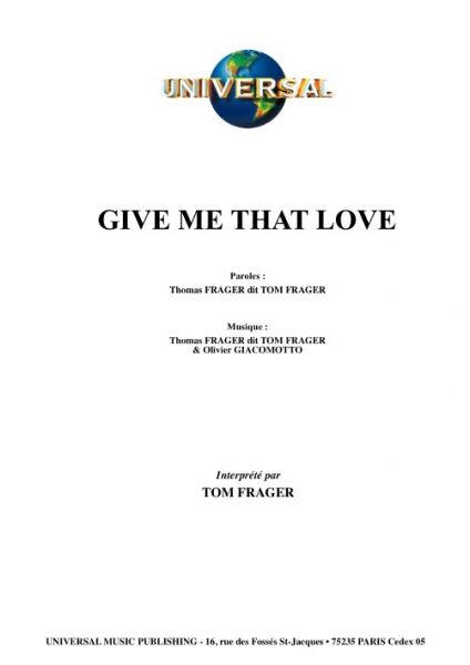 Give Me That Love