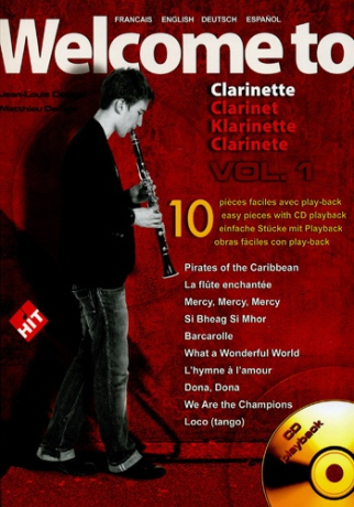 Jean-Louis & Mathieu DELAGE Welcome to clarinette vol.1 + CD Play-back