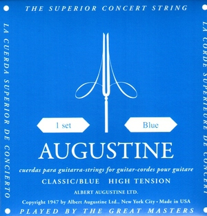 Jeu de Cordes guitare classique AUGUSTINE Classic/Blue High Tension