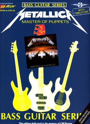 METALLICA Masters of Puppets BASSTAB