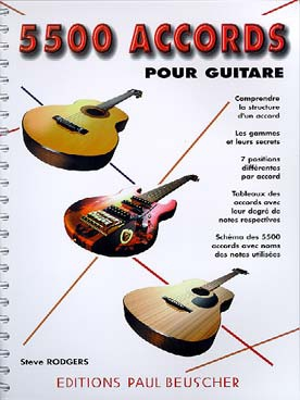 Steve RODGERS 5500 accords pour guitare