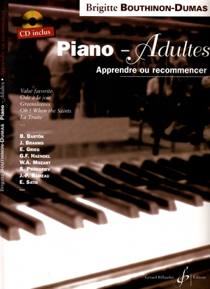 "Brigitte BOUTHINON-DUMAS Piano-Adultes ""Apprendre ou recommencer"" + CD"