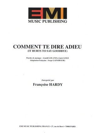 Comment te dire adieu (It Hurts To Say Goodbye)