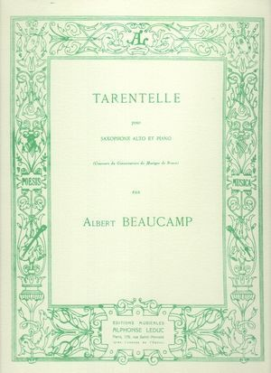 Albert BEAUCAMP Tarentelle