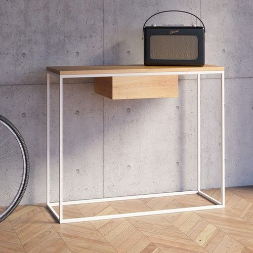 Console design console meuble meuble metal console m tal for Meuble tv console