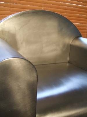 Fauteuil club metal
