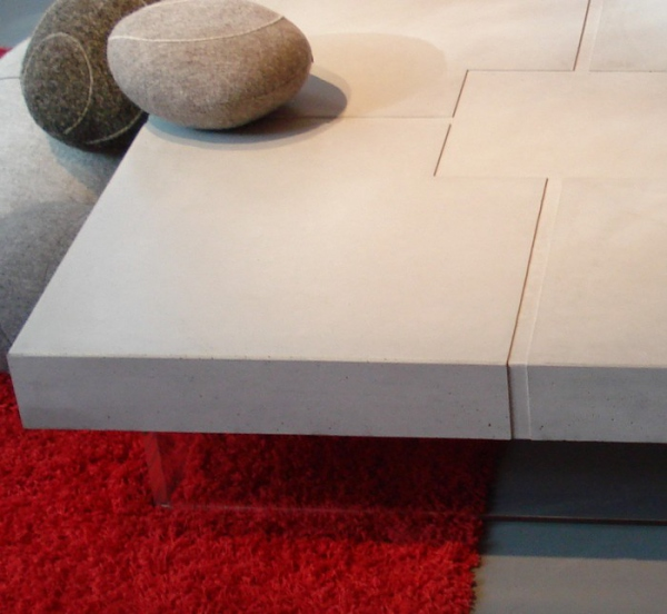 Table beton originale