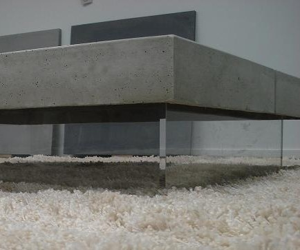 Table beton simply 120x120x30