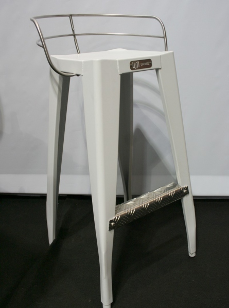 Chaise haute metal