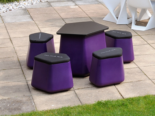 Table basse jardin rock
