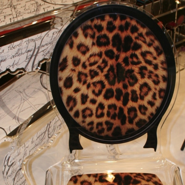 chaise leopard
