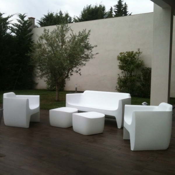 Salon De Jardin Blanc Design. Top With Salon De Jardin Blanc Design ...