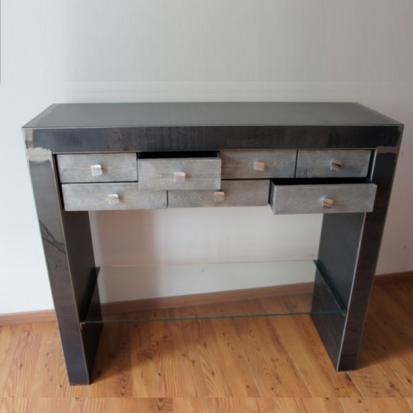 console metal contemporaine meuble console console design. Black Bedroom Furniture Sets. Home Design Ideas