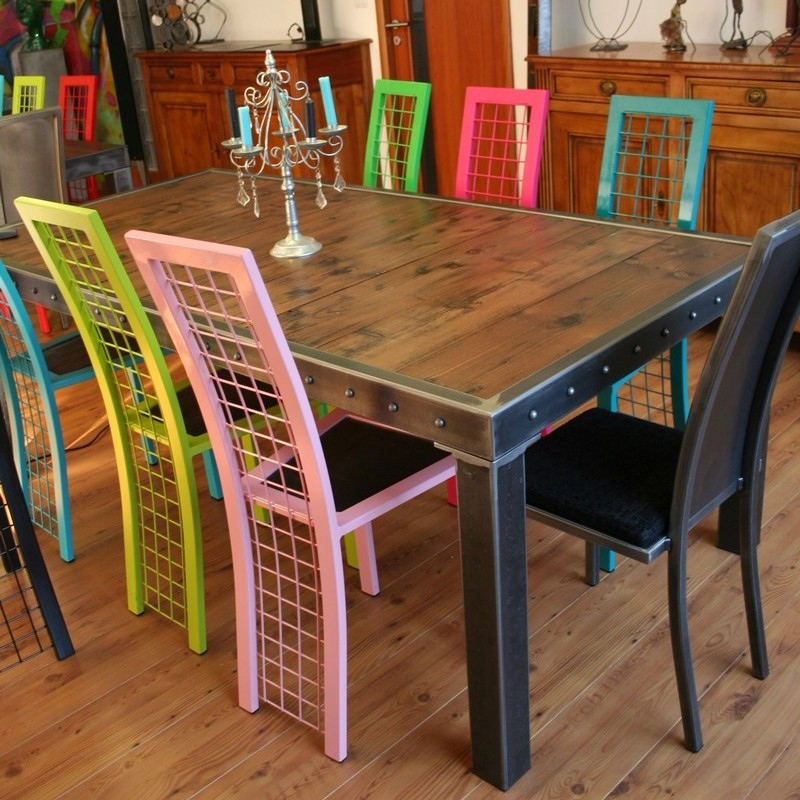 Table Salle A Manger Bois Et Pieds Metal Table Design Made In France