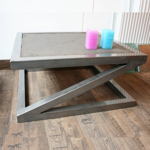 Table basse beton design